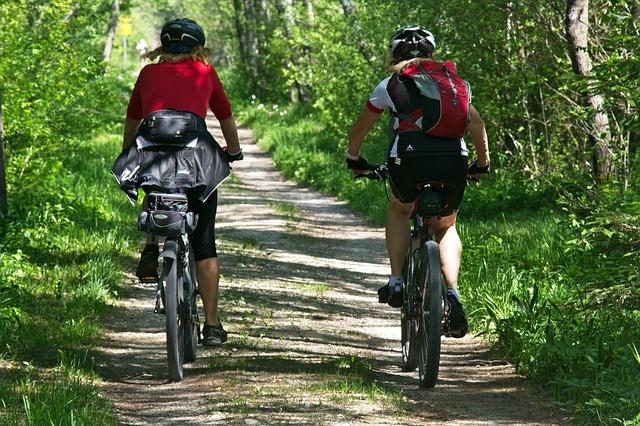cyklistky v lese